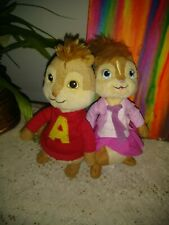 "Ty Beanie Babies Alvin And The Chipmunks Alvin & Brittany 7"" Stuffed Animals"