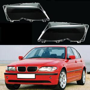 FIT BMW E46 318i 320i 325i 330i 2001-2005 Headlight Cover Lens Lamps Clear Part