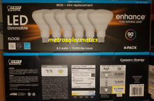 Feit Electric LED Dimmable BR30 8.3W=65W Daylight Flood Light Bulbs 6-Pack NEW