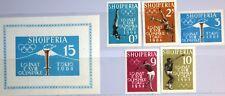 ALBANIA ALBANIEN 1962 657-61 B Block 8 B Olympics 1964 Tokyo Sport Javelin MNH
