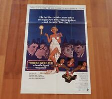 """ORIGINAL MOVIE POSTER """"WHERE WERE YOU WHEN THE LIGHTS WENT OUT"""" 1968 ONE SHEET"""