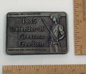 1985 Defender of Firearms Freedom - NATIONAL RIFLE ASSOCIATION - BELT BUCKLE