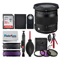 Sigma 17-70mm f/2.8-4 DC Macro OS HSM Lens for Canon + Top Value Accessory Kit!