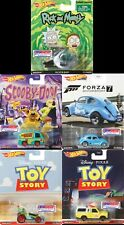 HOT WHEELS REPLICA ENTERTAINMENT FORZA RICK AND MORTY SET OF 5 CARS  IN STOCK