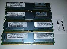 Lot of 4 Micron 1GB DDR2 2RX8 PC2-5300F 667MHZ SERVER RAM MT18HTF12872FDY