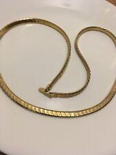 "Gold Tone Chain Necklace 30"" Les Bernard Haute Couture Runway"