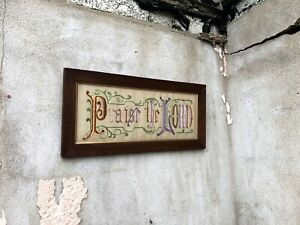 Read the full title Victorian Rustic Punched Paper Bible Verse in Original Frame