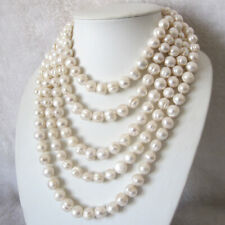 """Freshwater Pearl Necklace 10-12mm Strand Cultured Natural Jewelry 100"""" 50"""" 22"""""""