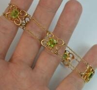 Stunning Art Nouveau Period 15ct Gold & Peridot Ladies Bracelet d1894