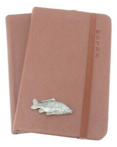 Mirror Carp Pair of A5 or A6 Notebooks Black, Brown, Grey Or Blue 240