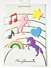 "New listing Nip Mrs. Grossman'S Puffy Make Rainbows Stickers Unicorns Hearts Music - 4"" X 6"""