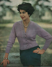 Vintage Knitting Pattern Lady's 1950s Jacket/Cardigan. 32 inch to 38 inch Bust
