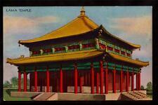 1933 Lama Temple century of progress Chicago world's fair postcard