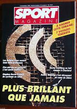 SPORT MAGAZINE du 5/11/1992; Sacha Koulberg/ Robert Waseige/ Stephen Roche