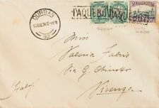 Africa del Sur. Sobre Yv 38, 47, 49. 1934. ½ p verde y negro, dos sellos difere