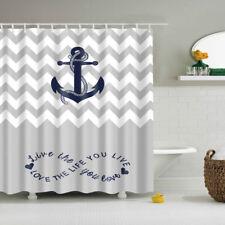 Creative Nautical Print SHOWER CURTAIN Polyester Fiber Mildew Resistant