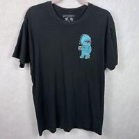 Riot Society T Shirt Black Chest Graphic Men's Size XL Worn