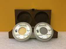 Tencor Sonogage (Set of 2) 425um + 616um, Calibration Standard + Case. See Pic