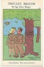 WWII Original 1940s PC- Private Breger- WAAC- Now We're Sweeties- Romance- Comic