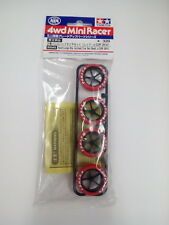 Tamiya 4wd Mini 95045 Limited Hard Large Dia. Arched Tire Set (Red) J-Cup 2014
