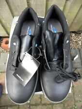 MENS WORK SHOES, STEEL TOECAPS,ABOUTBLU,BLACK, SIZE 48