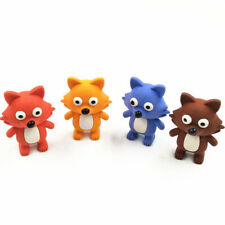 Cute Fox Animal Puzzle Erasers Novelty Fun Kids Rubbers Party Gift Bag Fillers
