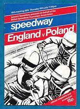 1974 SPEEDWAY PROGRAMME ENGLAND V POLAND AT IPSWICH