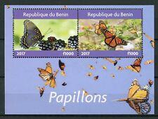 Unmounted Mint complete.issue. Never Hinged 1996 Butterflies Benin Block16