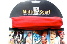 Multi Purpose Magic Scarf Sport Head Band Neck Scarf Head Wear  Colour Red