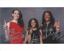 Breanna Stewart Moriah Jefferson Morgan Tuck Signed 8X10 Photo Wnba Draft Coa