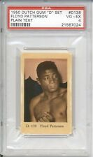 1950 Dutch Gum FLOYD PATTERSON #D138 PSA 4 VG-EX Plain Text HIGHEST GRADED