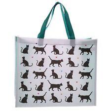 Shopping Bag-Amo il mio gatto design 33cm alta Gatto Nero Riutilizzabile