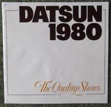 DATSUN CAR RANGE SALES BROCHURE 1980 (USA PRINT - LARGE FORMAT) REF- 1MM-2-AL