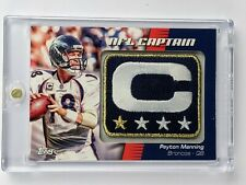 Peyton Manning 2012 Topps NFL Captains Patch NCP-PM
