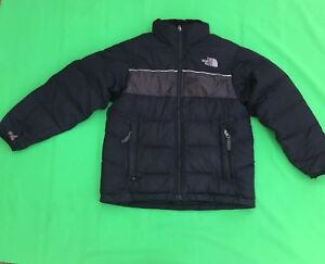 THE NORTH FACE boy's fashion black down warm jacket size--M