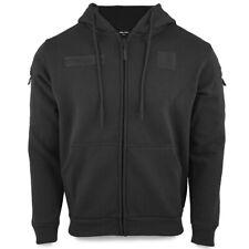 Mil-Tec Men's Tactical Police Security Warm Full Zip Hoodie Hooded Sweater Black