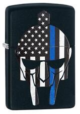 Zippo Windproof Gladiator Blue Line Lighter With American Flag 29552, New In Box