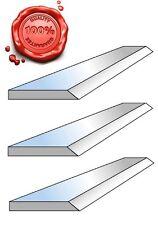 3 Fers de dégauchisseuse HSS 18% en 250 x 20 x 2.5 mm - Top qualité !