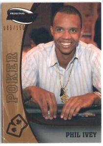 PHIL IVEY 2009 PRESS PASS FUSION #81 BRONZE /150 POKER WSOP WINNER