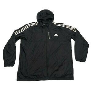 Adidas Jacket Mens 3XLT XXXL Black