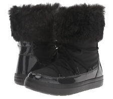 Crocs Lodgepoint Lace Boot Womens Black Relax Fit Size W7  *NEW*