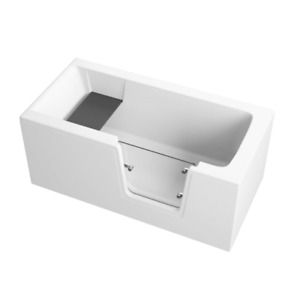 Badewanne für barrierefreies Bad mit Tür rechts, abnehmbarer Sitzbank AVO 140cm