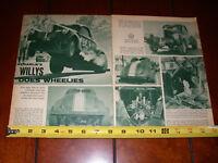 1940 WILLYS C/GASSER WHEEL STANDER - ORIGINAL 1964 ARTICLE