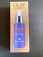 Olay Regenerist Retinol 24 Night Facial Serum Fragrance Free- 1.3 fl oz
