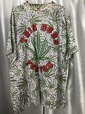 "vtg ""THIS BUDS FOR YOU"" All over Print MARIJUANA Weed Refer L 46"" TEE SHIRT nos"
