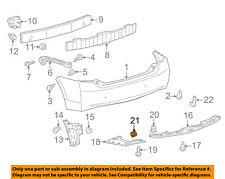 TOYOTA OEM 03-10 Corolla Front Bumper-Spoiler Clip 7687944010