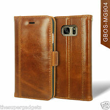 GBOS® Genuine Handmade Leather Wallet Case For Samsung Galaxy S7/S7 Edge/S8/S8+