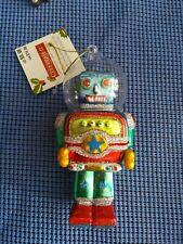 "Celebrate It 5.5"" Blown Glass Robot Christmas Ornament"