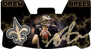Custom New Orleans Saints Drew Brees Football Helmet Visor, W/ Unbranded Clips