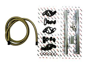OBX-R Silver Fuel Injection Rail & Hose For 1999-2004 Ford Mustang GT 4.6L V8